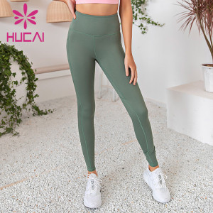 Womens peach hip gym leggings wholesale