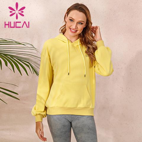 blank hoodie wholesale oversized yellow