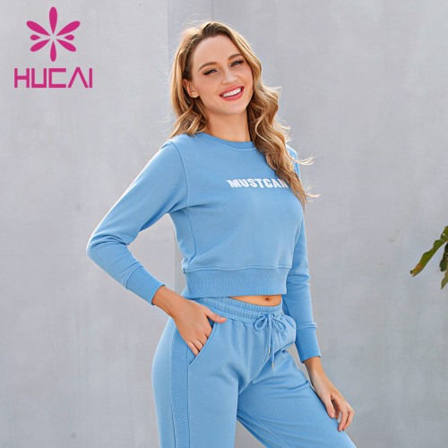 Custom tracksuits women's autumn and winter running fitness top long sleeve new style