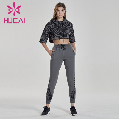 jogger suits wholesale fitness clothes sports suit women's fast dry morning running top