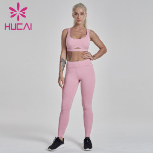 fitness clothing wholesalers shockproof high strength running tank top set fitness yoga pants for sports