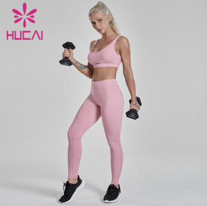 fitness clothing wholesalers shockproof high strength running vest set fitness yoga pants for sports
