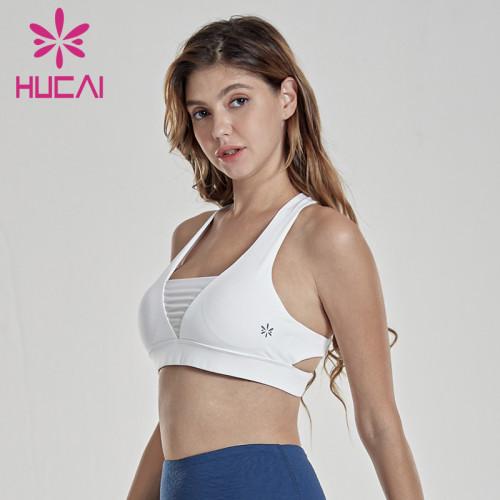 Custom Bulk Sports Bras V-Shape Women's Shockproof Yoga Top