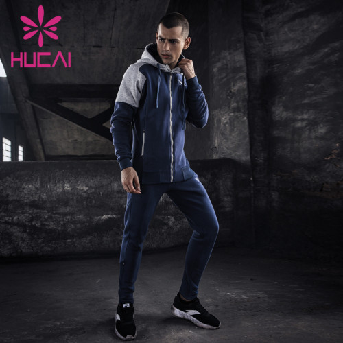 mens sweat suits wholesale outdoor morning running clothes fitness exercise warm exercise two sets