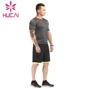 mens jogging suits wholesale fitness training T-shirt sports two-piece set