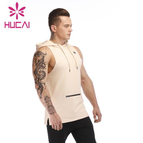 Mens athletic wear wholesale tank tops fashion summer hooded sleeveless
