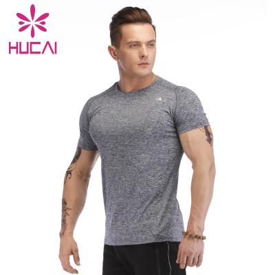 wholesale gym t shirts men short sleeve fitness wear