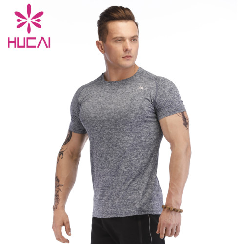 mens athletic wear wholesale short sleeve T-shirt fitness wear slim 2021 new fitness wear running top