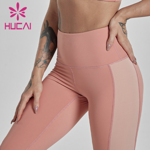 wholesale activewear leggings  splicing design Yoga Pants women wear high waist hip fitness pants