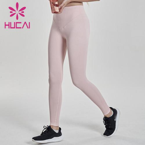 blank workout pants wholesale high waist flat abdomen small thin leg Fitness Yoga Pants pit strip tights