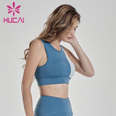wholesale blank sports apparel widened shoulder belt sports bra  color matching underwear