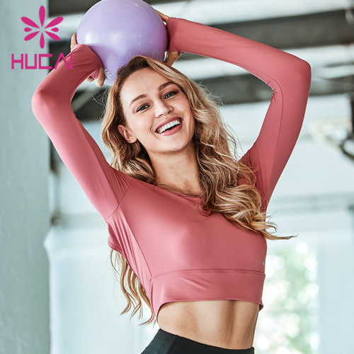 athletic t shirts wholesale fitness backless corset long sleeve sexy quick drying clothes yoga clothes