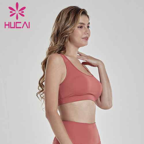 Asymmetrical sports underwear women's running bra gathered shock absorption quick drying gym vest Yoga Top