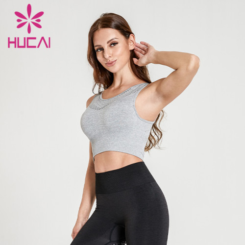 Custom fitness sleeveless front zipper jacket top sports running short sleeve Yoga suit