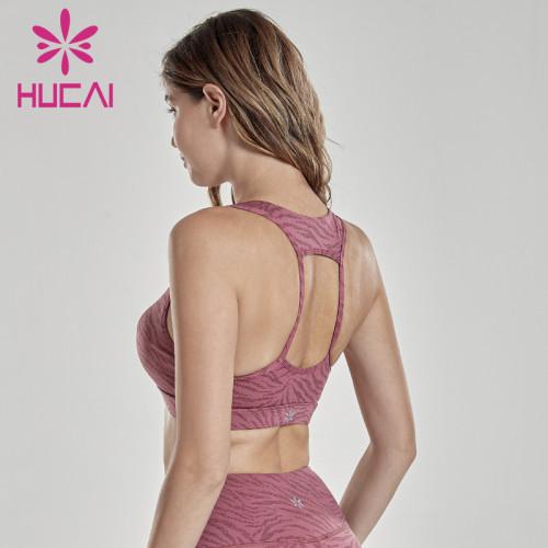 Sports underwear women's high strength shockproof running gathered anti sagging Yoga vest fitness large bra spring