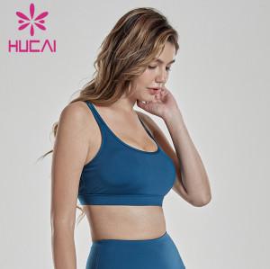 Back Yoga tank top women's wear double shoulder sports underwear gym apparel wholesale