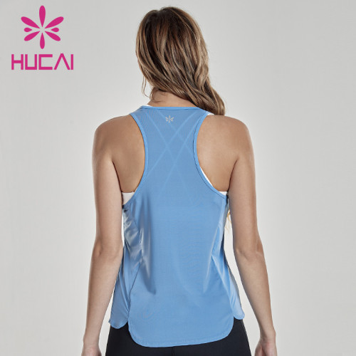 Summer new sports vest women's sleeveless perforated versatile quick dry Breathable blouse thin custom womens sportswear