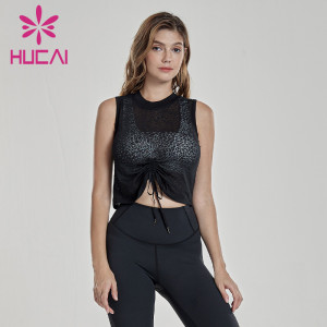 Thin gauze perspective sports smock show thin sleeveless fitness clothes running quick drying tank top blank activewear wholesale