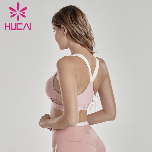 Sports underwear shock absorption running retro fashion splicing fitness vest for women sportswear design companies