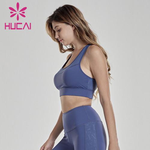wholesale activewear Sports underwear fitness high strength shockproof printed bra