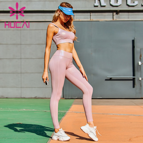 Colorful silver hot craft Sports Bra Pink Yoga suit