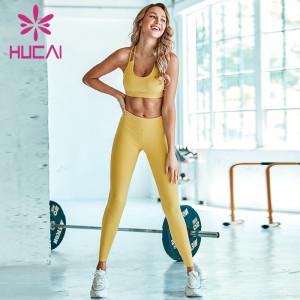 Yellow sports underwear women's  Fitness sling beautiful tank top style yoga clothing wholesale canada