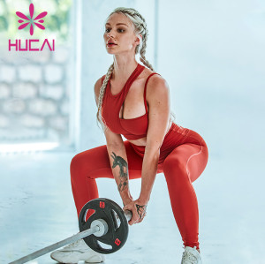 gym clothes wholesale china women's sports irregular underwear Yoga suit big red fitness suit