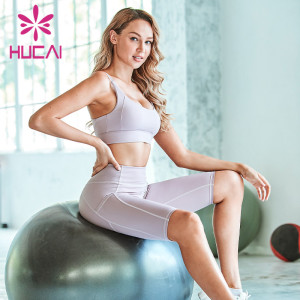 best fitness clothing manufacturers Professional high-end back fitness suit women's summer