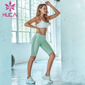 mesh splicing tight fitness pants suit best athletic apparel manufacturers