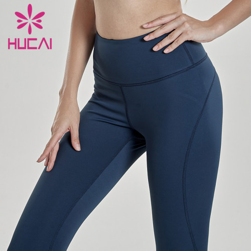 Wholesale high waisted workout leggings yoga training pants with hip lifting pants