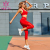 Beautiful back sexy fashion fitness suit for women wholesale athletic clothing