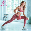 Yoga suit shock proof splicing exercise fitness suit wholesale sports apparel
