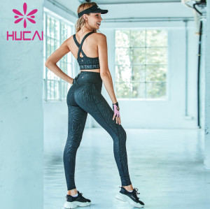 Wholesale activewear clothing corrugated digital printing fitness suit
