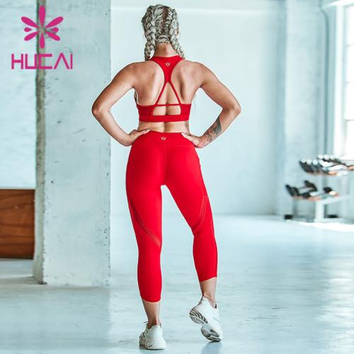 Yoga suit two piece set of women's bra pants wholesale workout wear