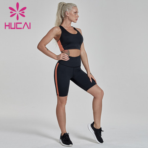 Slim fit short fitness suit cooperation sports apparel distributors