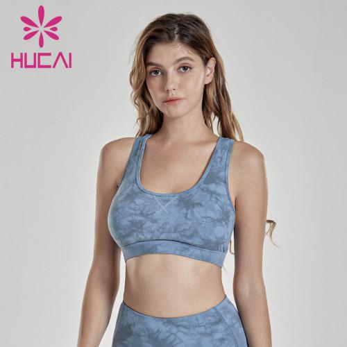 Tie dye Yoga underwear running yoga clothes fitness bra wholesale suppliers