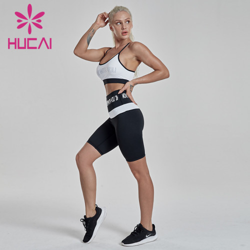 Black and white Yoga Fitness suit apparel wholesale suppliers