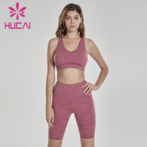 Sexy color printed Capris fitness suit fitness apparel supplier