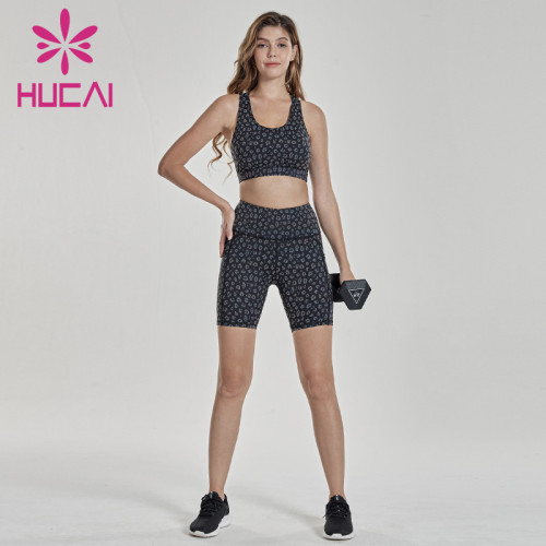 Wave dot printing Yoga suit sports jersey wholesale suppliers