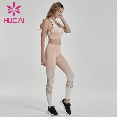 Progressive color fitness suit drilling process sportswear colombian workout clothes wholesale