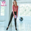 Sportswear autumn short fitness top private label activewear manufacturer