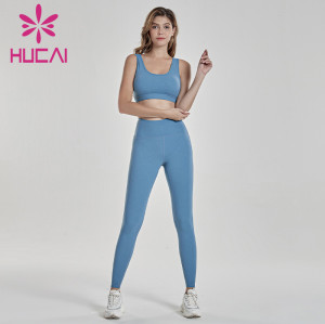 Digital print fitness suit light blue gym training suit clothing makers in usa