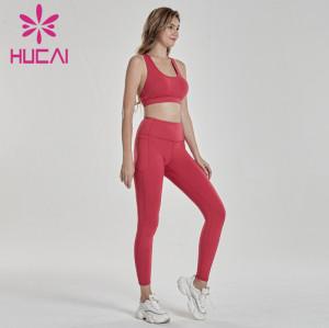 Digital printing high waist shaping hip lifting fitness running suit fitness wear distributors
