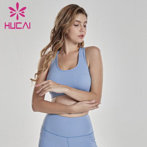 Nude anti shock sports bra cross back underwear Yoga suit unbranded gym clothing wholesale