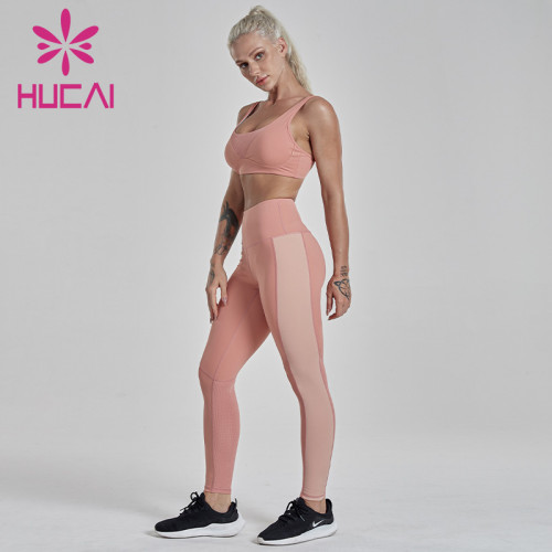 Contrast stitching Yoga suit activewear wholesale canada