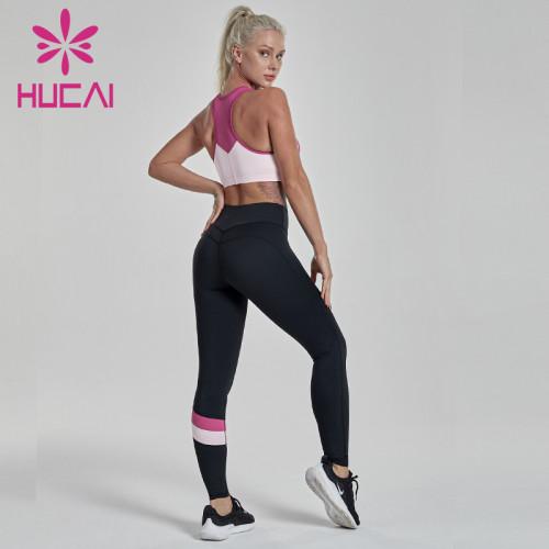 Contrast stitching Yoga Pants Set sports clothing manufacturers china