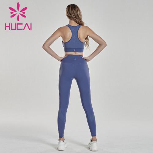 Purple imitation shock fitness suit activewear clothing manufacturers