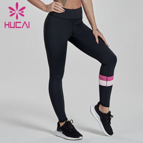 wholesale workout leggings color contrast splicing high waist hip lifting sports pants