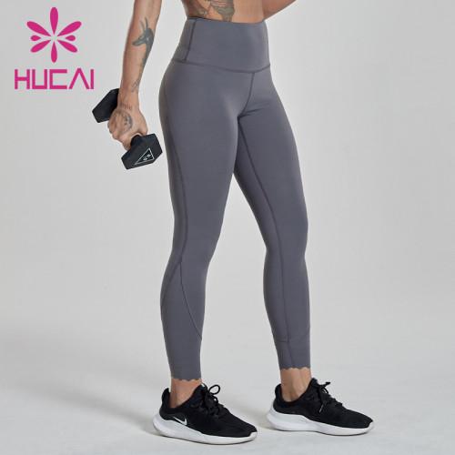 wholesale athletic leggings  iron grey fitness pants