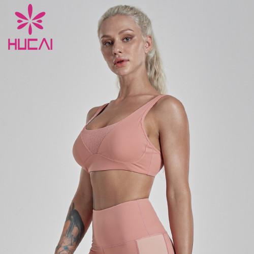 Wholesale blank sports bras Mesh sports bra